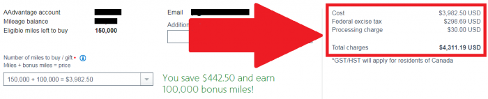 American Airlines Buy & Gift AAdvantage Miles June 2017 Campaign Price