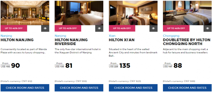 Hilton Honors Greater China Summer Sale 5