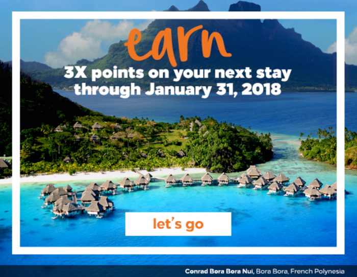 Hilton Honors Triple Points One Stay Through January 31 2018
