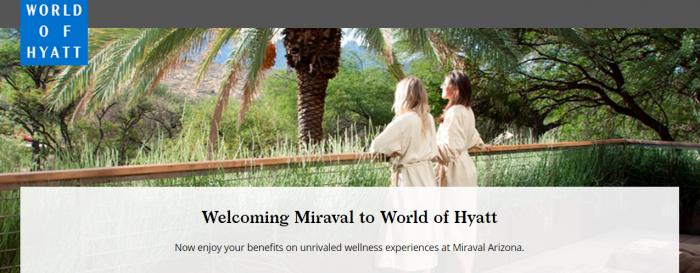 Hyatt - World of Hyatt Miraval