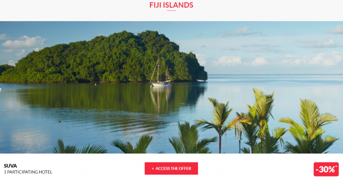 Le Le Club AccorHotels Worldwide Private Sale Fiji 1