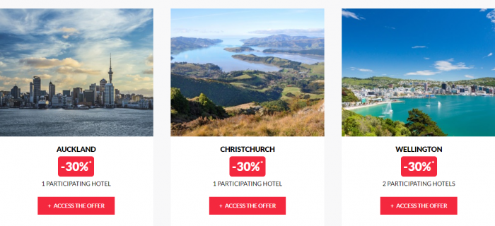 Le Le Club AccorHotels Worldwide Private Sale New Zealand 2