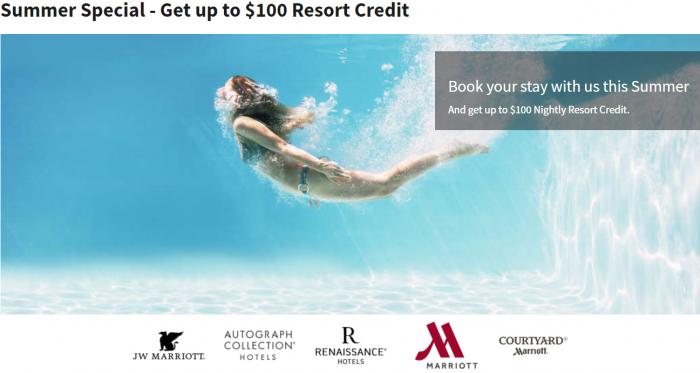Marriott Rewards Summer Resort Credit Promotion