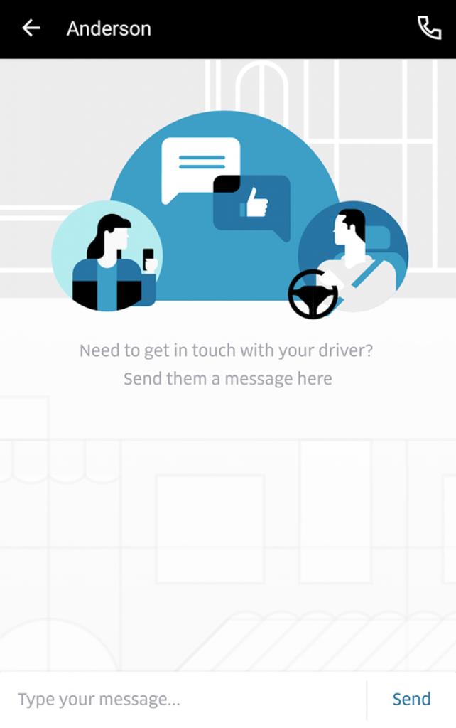 Uber App Messaging