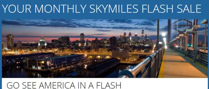 Delta Air Lines SkyMiles July 2017 Flash Sale US