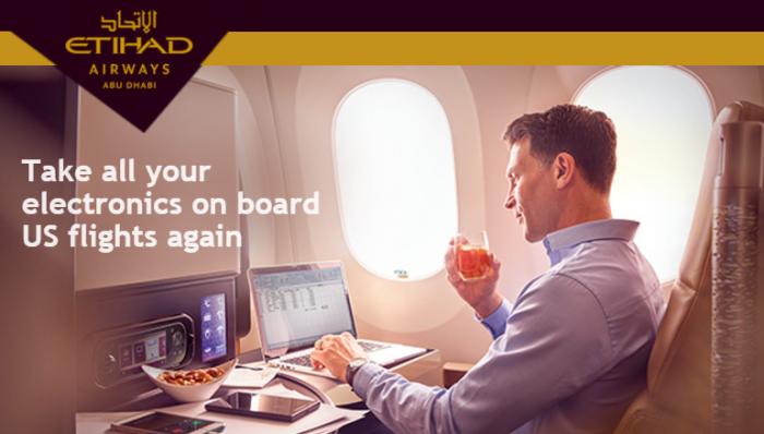 Etihad Airways Laptop Ban No More