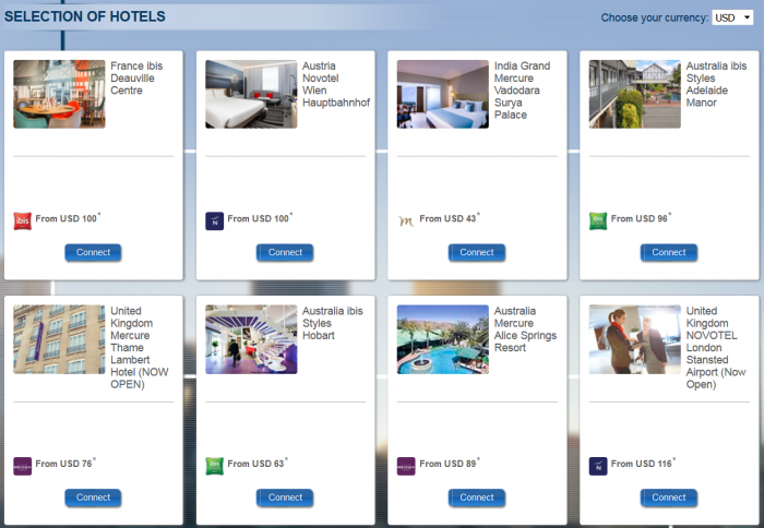 Le Club AccorHotels Quadruple Points Select New Hotels July 17 - September 30 2017 Selection
