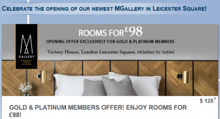 Le Club AccorHotels Victory House MGallery Leicester Square Update
