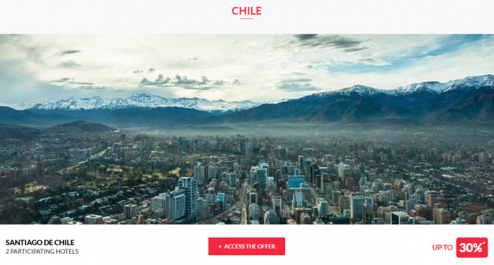 Le Club AccorHotels Worldwide Private Sale July 26 2017 Chile 1
