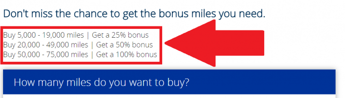 United Airlines MileagePlus Buy Miles August 2017 Promo Bonus Table