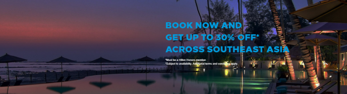 Hilton Honors Asia Pacific 30 Percent Off