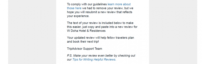 Hotels Gaming TripAdvisor Rankings Case W Doha TA Email 2