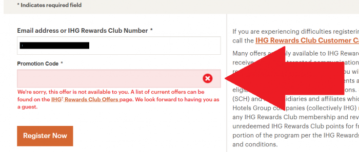 IHG Rewards Club 10,000 Bonus Points For a Stay 90 Days Not Eligible