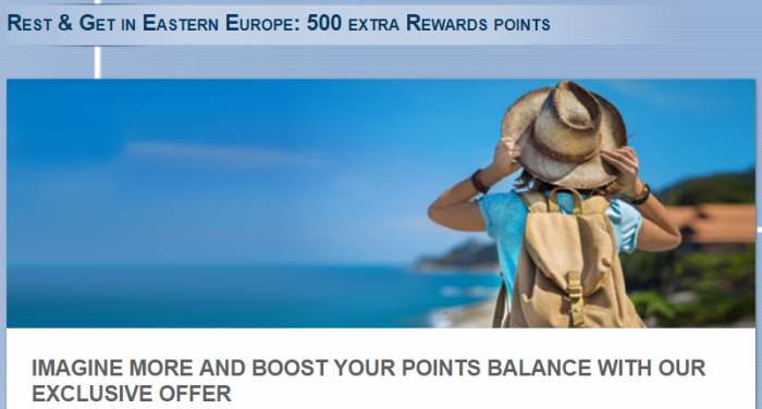 Le Club AccorHotels Eastern Europe 500 Bonus Points August 15 - September 30 2017