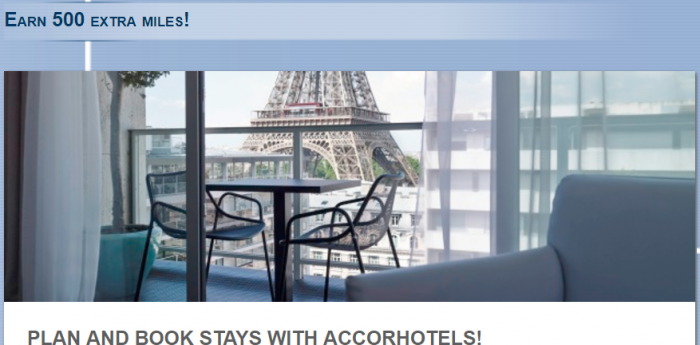 Le Club AccorHotels Lufthansa Miles&More 500 Bonus Miles September 1 - October 31 2017