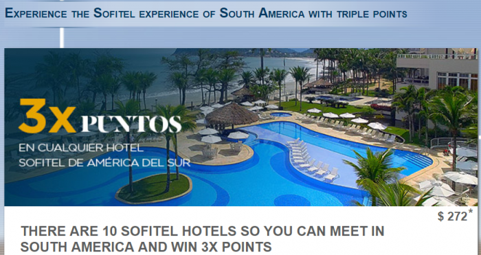 Le Club AccorHotels Sofitel South America Triple Points August 29 - October 31 2017