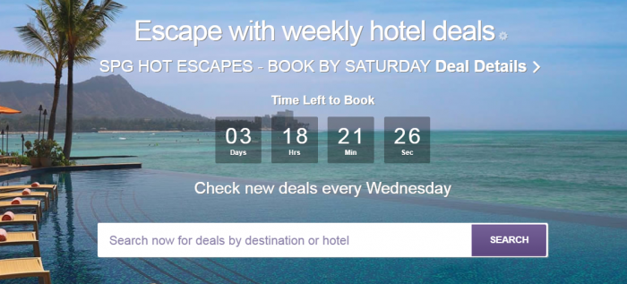 SPG Hot Escapes August 2 2017