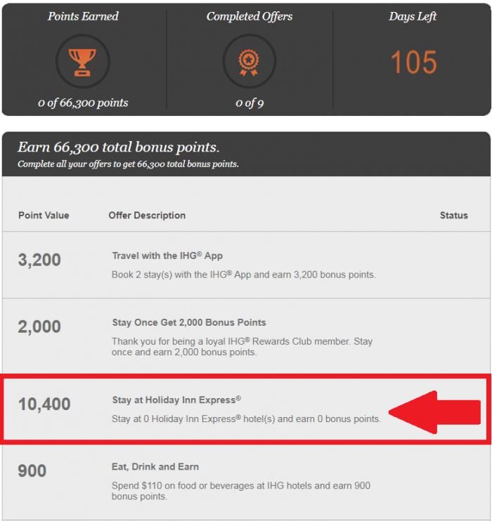 IHG Rewards Club Accelerate Botched September 1 - December 31 2017 1