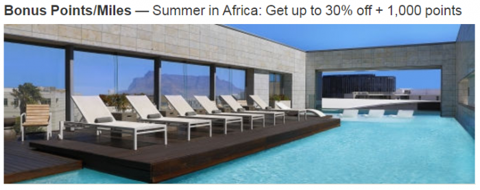 Marriott Rewards South Africa Up To 30 Percent Off + 1,000 Bonus Points November 1 - January 23 2018