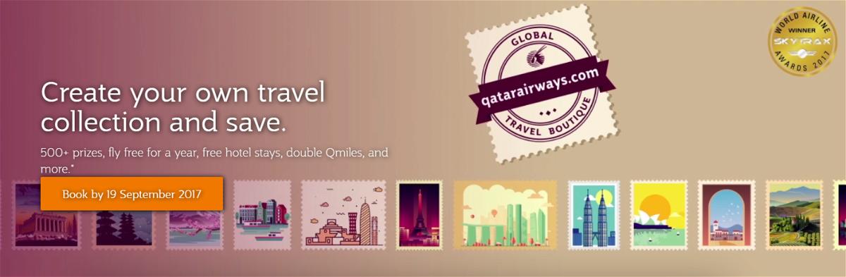 Qatar Airways Global Travel Boutique Sale
