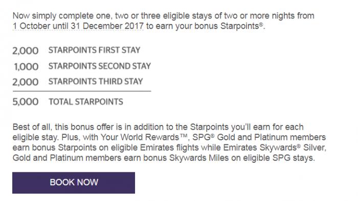 SPG & Emirates Your World Rewards Offer Targeted
