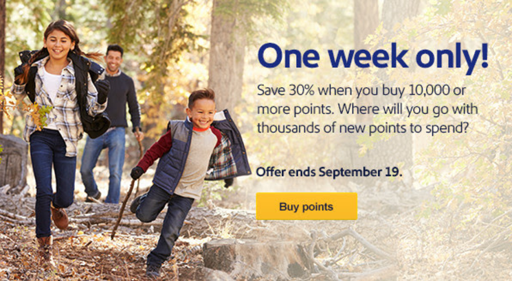 Southwest Airlines Buy Rapid Rewards Points Campaign September 2017
