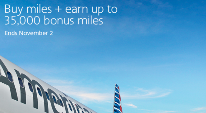 American Airlines Buy AAdvantage Miles October 2017 Campaign