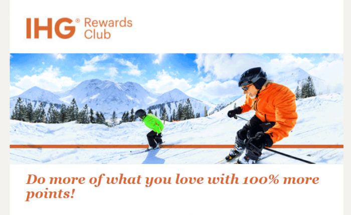 IHG Rewards Club Buy Points 100 Bonus October Flash 2017