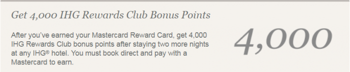 IHG Rewards Club Priceless Experiences Mastercard United States Points