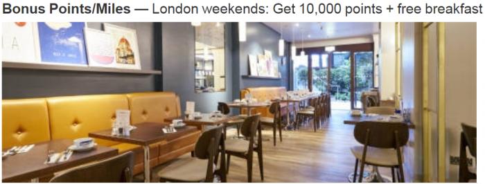 Marriott Rewards 10,000 Bonus Points For Two Night Weekend Stays At London Marriott Regents Park Through December 31, 2017
