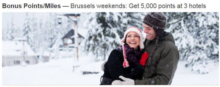 Marriott Rewards Brussels 5000 Bonus Points January 4 - February 11 2018