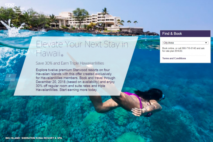 SPG Hawaii 30 Percent Off
