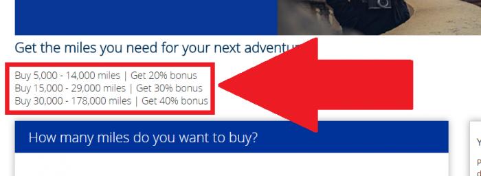 United Airlines Buy MileagePlus Miles October Campaign Bonus Amount
