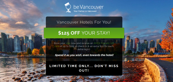 Amex BeVancouver Offer Is Back