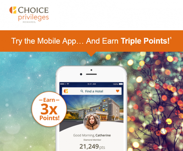 Choice Privileges Mobile App Promo Triple Points