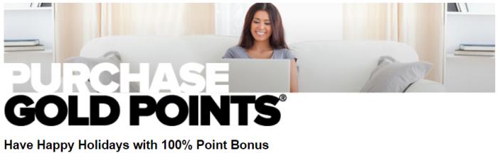 Club Carlson Buy GOld Points 100 Percent Bonus Novenver 2017