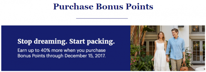 World of Hyatt Buy Points November 2017