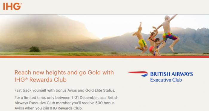 IHG Rewards Club British Airways Executive Club