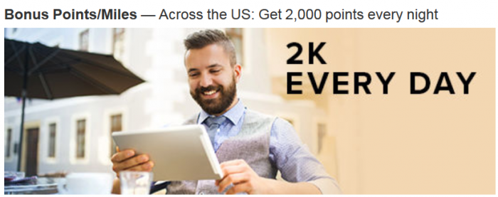 Marriott Rewards Courtyard 2000 Bonus Points