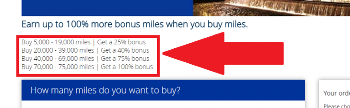United Airlines MileagePlus Buy Miles December 2017 Campaign Table