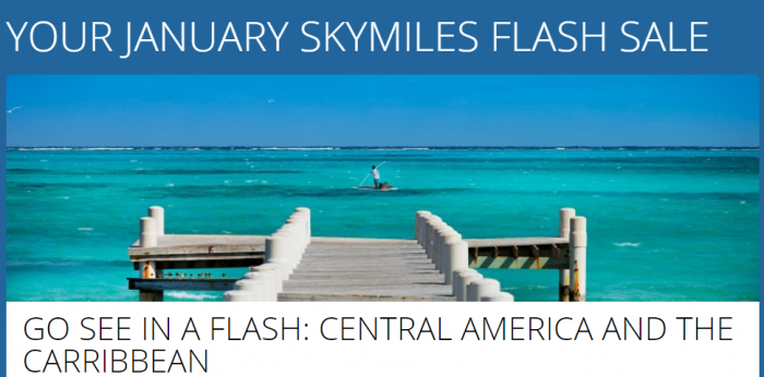 Delta SkyMiles January 2018 Award Flash Sale