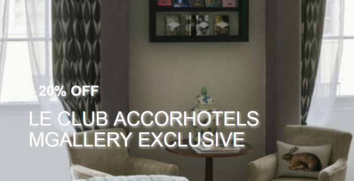 Le Club AccorHotels MGallery UK Platinum Double Points