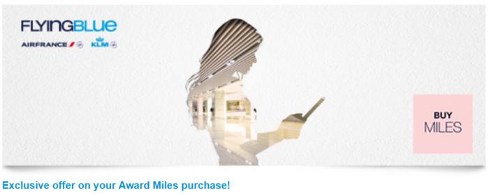 Air France-KLMM Flying Blue Buy Miles
