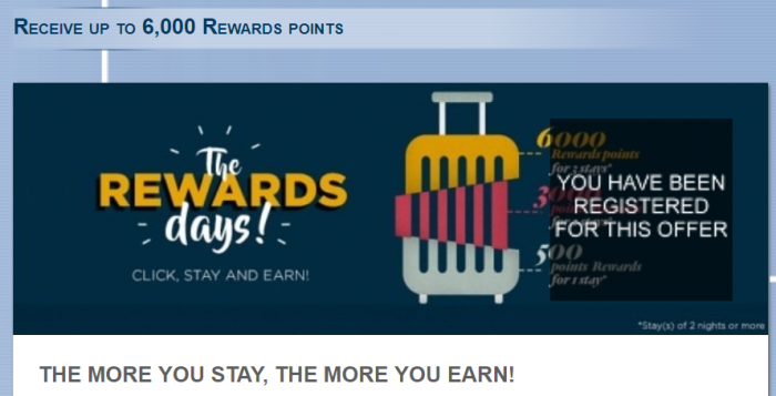 Le Club AccorHotels 6000 Bonus Points Promo February 2018 U