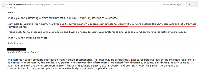 Marriott Look No Further System Update