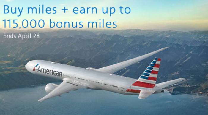 American Airlines Buy AAdvantage Miles March 2018 Campaign