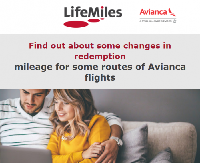 Avianca LifeMiles Changes June 2018