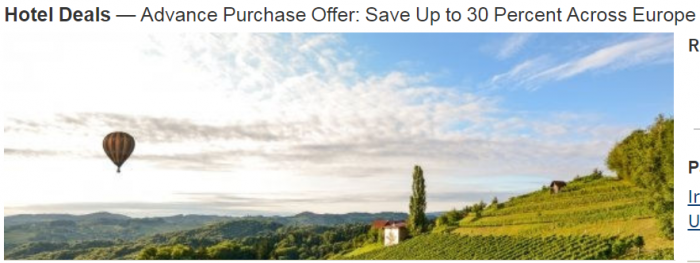 Marriott Rewards Europe Up To 30 Percent Off Through May 31 2018