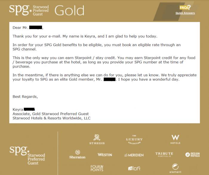Reader Comment SPG Gold SPG
