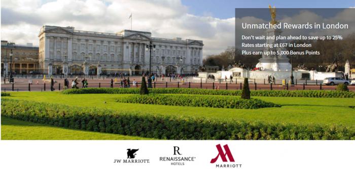 Marriott Rewards London Up To 5000 Bonus Points September 2 2018